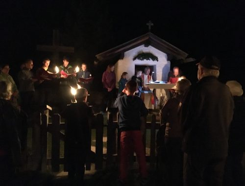 Katolsk valfart til Pestkapellet på Ehrwalder Alm i Østrig den 14. august. Anledningen er Maria optagelse i himlen.