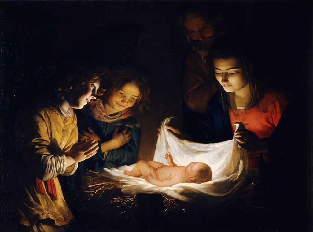 Adorazione del Bambino (Honthorst)