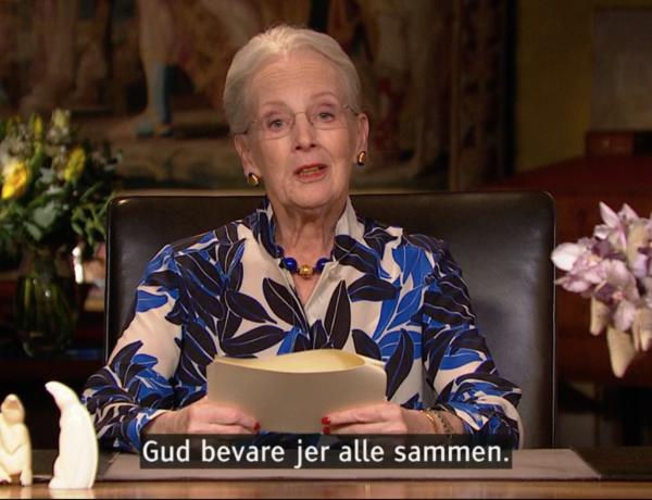 Dronning Margrete udtrykker omsorg i ord